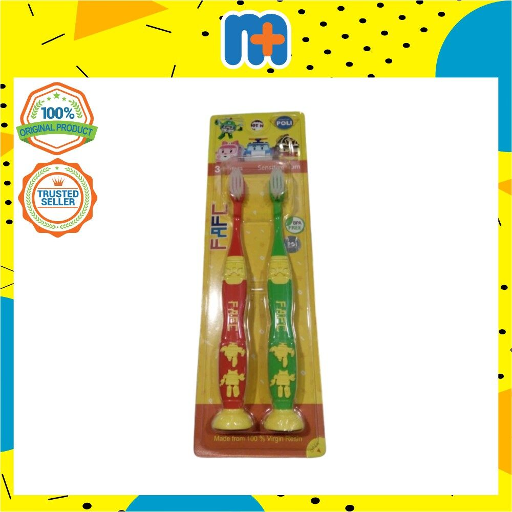 [MPLUS] ROBOCAR POLI - Helly Roy Suction Kids Toothbrush (2pcs)