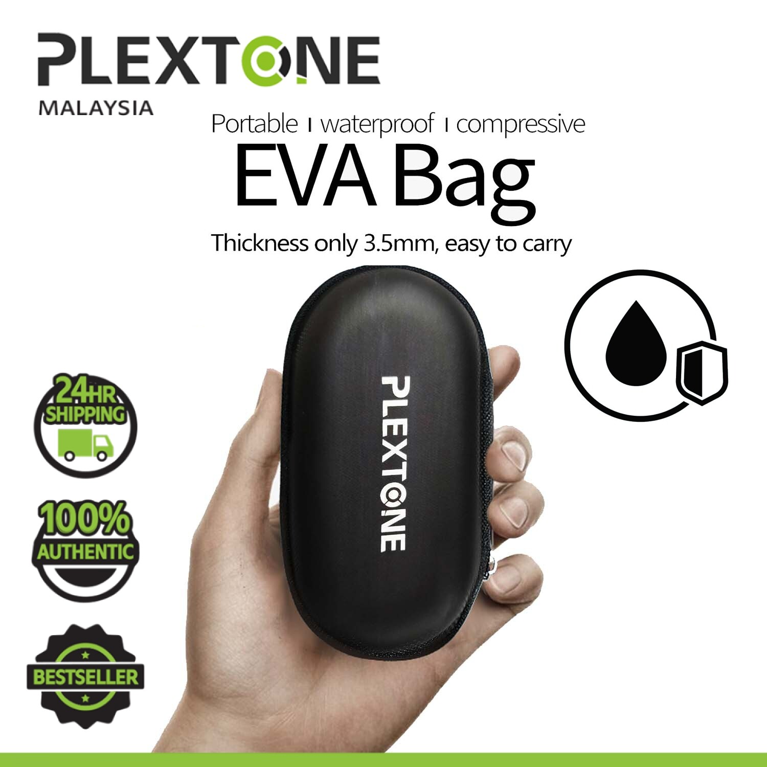 PLEXTONE NYLON BAG WATERPROOF PROTECTION for earphone headphone PORTABLE POUCH BAG CASING EARPHONES HEADPHONES STORAGE BOX PROTECTIVE USB CABLE FOR CARRYING CASE