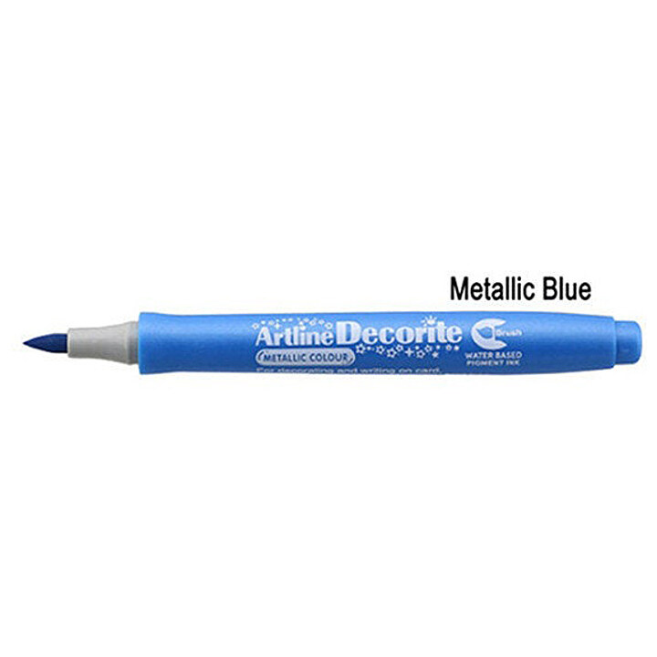 Artline Decorite Brush (EDF-F)  (EDFM-F) Metallic Blue