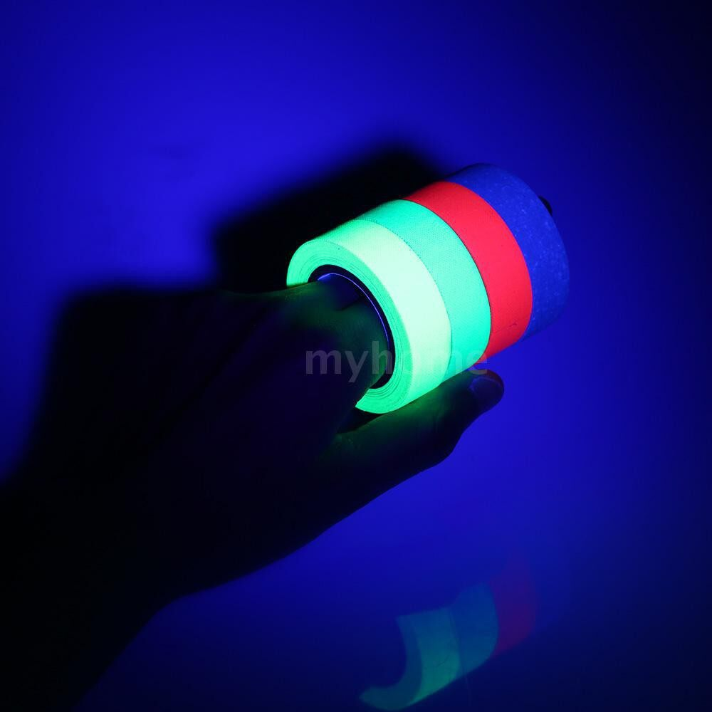 Lighting - 6 PIECE(s) UV Backlight Tape Reactive Fluorescent Cloth Tape Neon Gaffer Tape 6 Colors 30ft Per - #
