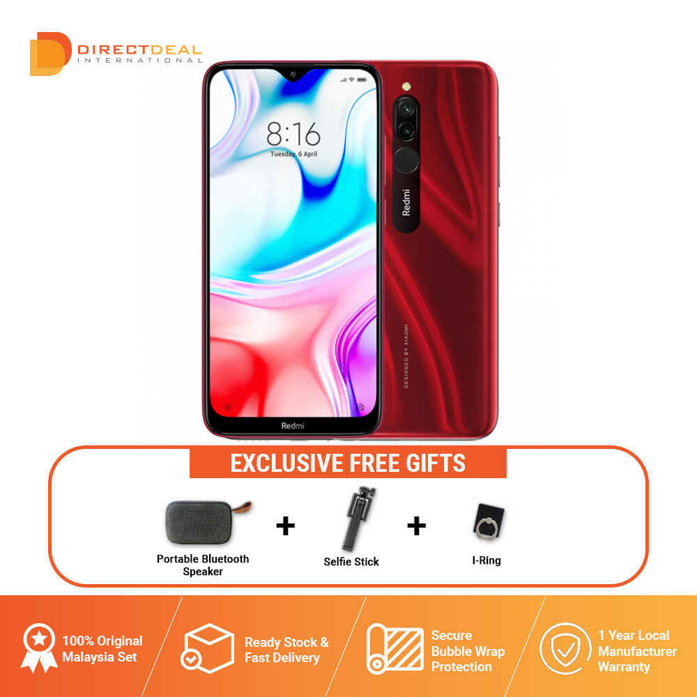 Xiaomi Redmi 8 4+64GB - Original Mi Malaysia 1 Year Warranty (MY SET) Smartphone + FREE GIFT