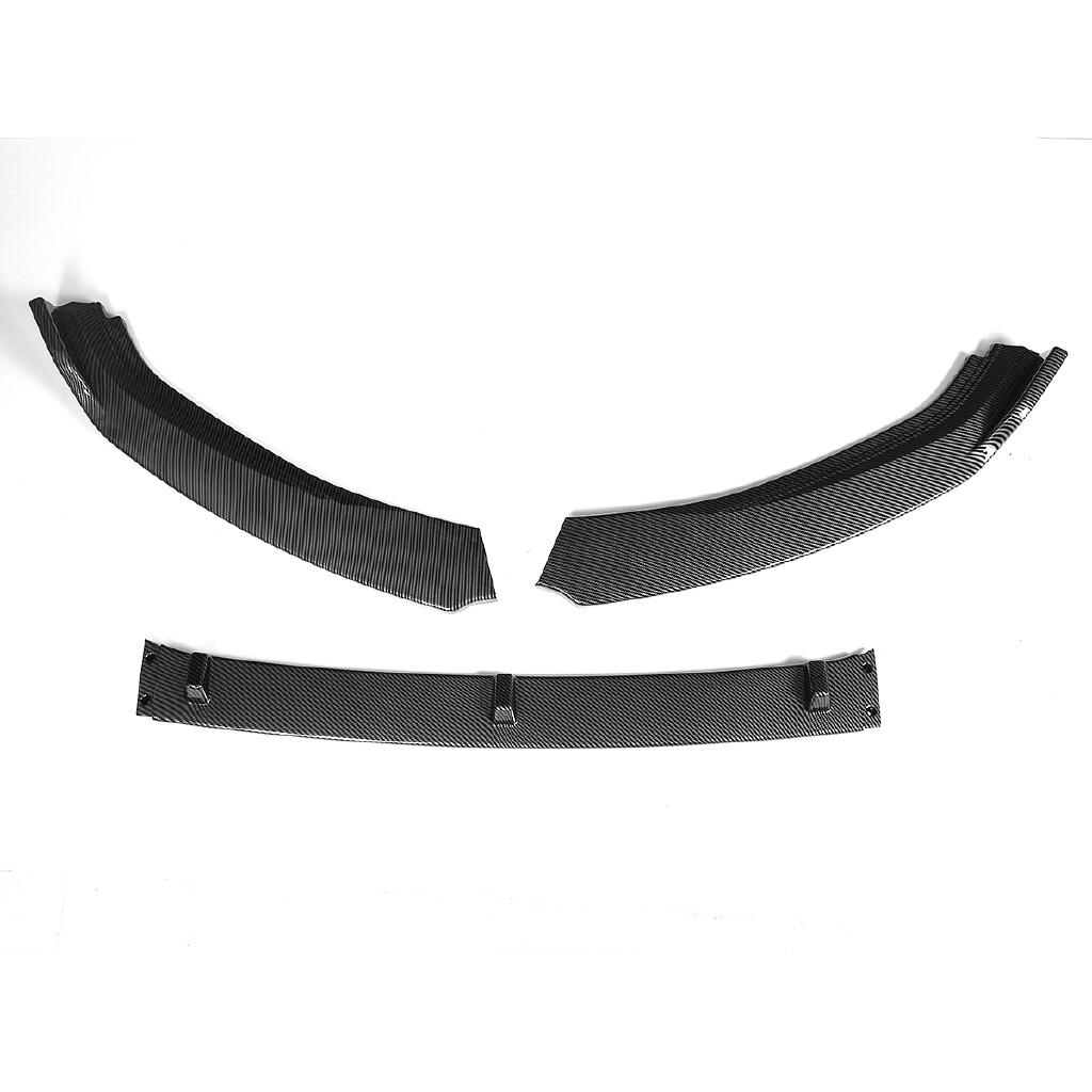 Automotive Tools & Equipment - For 2014-2017 Volkswagen VW Golf 7 / 7.5 Carbon Black Front Bumper Lip Spoiler - Car Replacement Parts