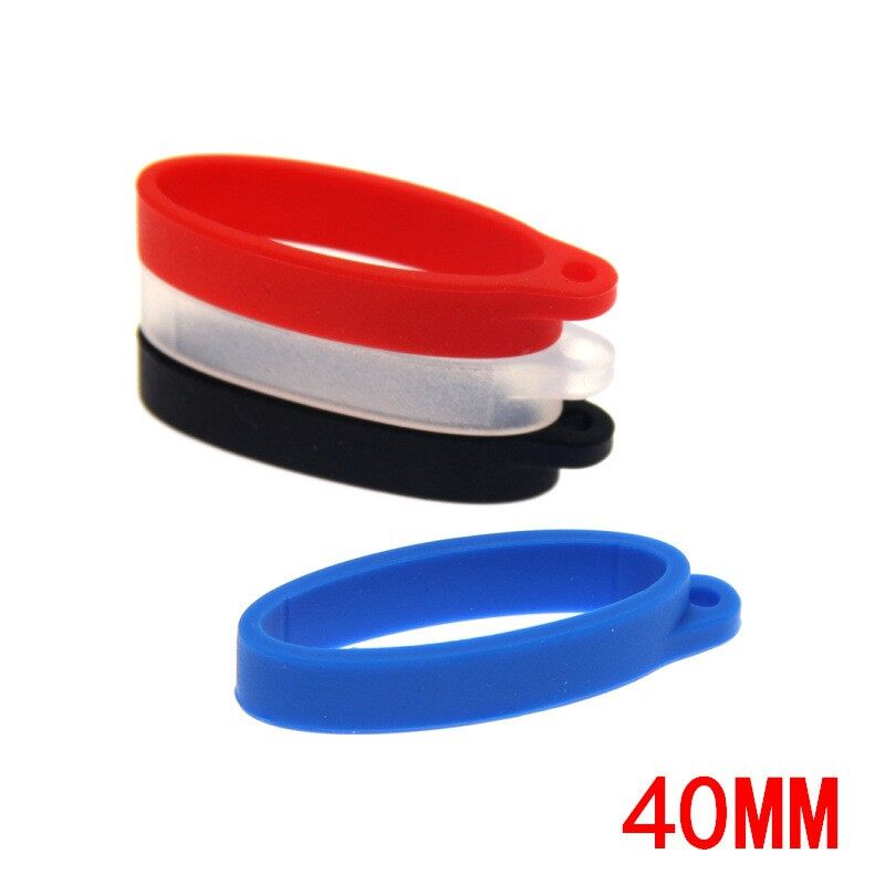 40mm Silicone Lanyard Hanging Ring for Renzy Pasito Pod Play ZERO Accessories Second Generation - BLACK-13MM / BLACK-40MM / WHITE-13MM / WHITE-40MM / BLUE-13MM / BLUE-40MM / RED-13MM / RED-40MM