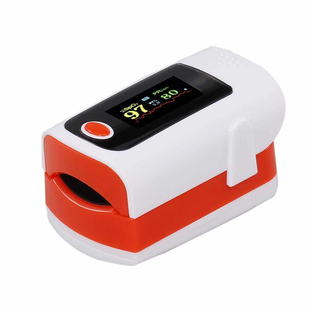 Fingertip Pulse Oximeter Blood Oxygen Saturation Pulse Intensity Monitor SpO2 Monitor LED Color Display Pulse Rate Monitor (Red)