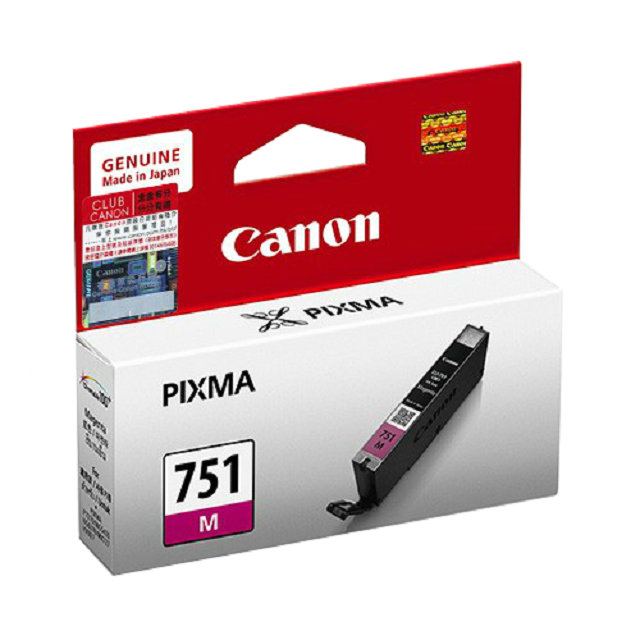CANON CLI-751 MAGENTA CARTRIDGE (7ml) for iP7270/iP8770, MG5670/MG5570/MG5470/MG6670/MG6470/MG6370/MG7570/MG7170, MX727/MX927, iX6770/iX6870 Printer