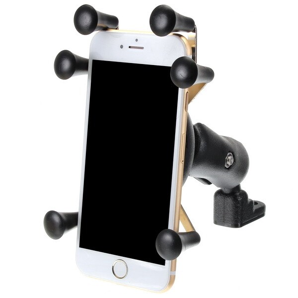 Moto Accessories - 6.0 Inch Phone Holder Anti Theft For Motorcycle Scooter Bike Rear View Mirror - 65MM / 95MM