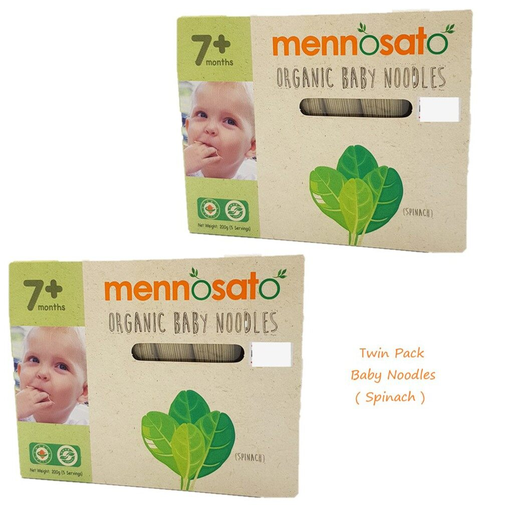 Twin Pack !! Mennosato Organic Spinach Baby Noodle (200G)