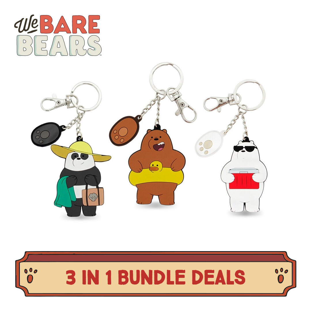 We Bare Bears 3 In 1 PVC Keychain Value Bundle Set