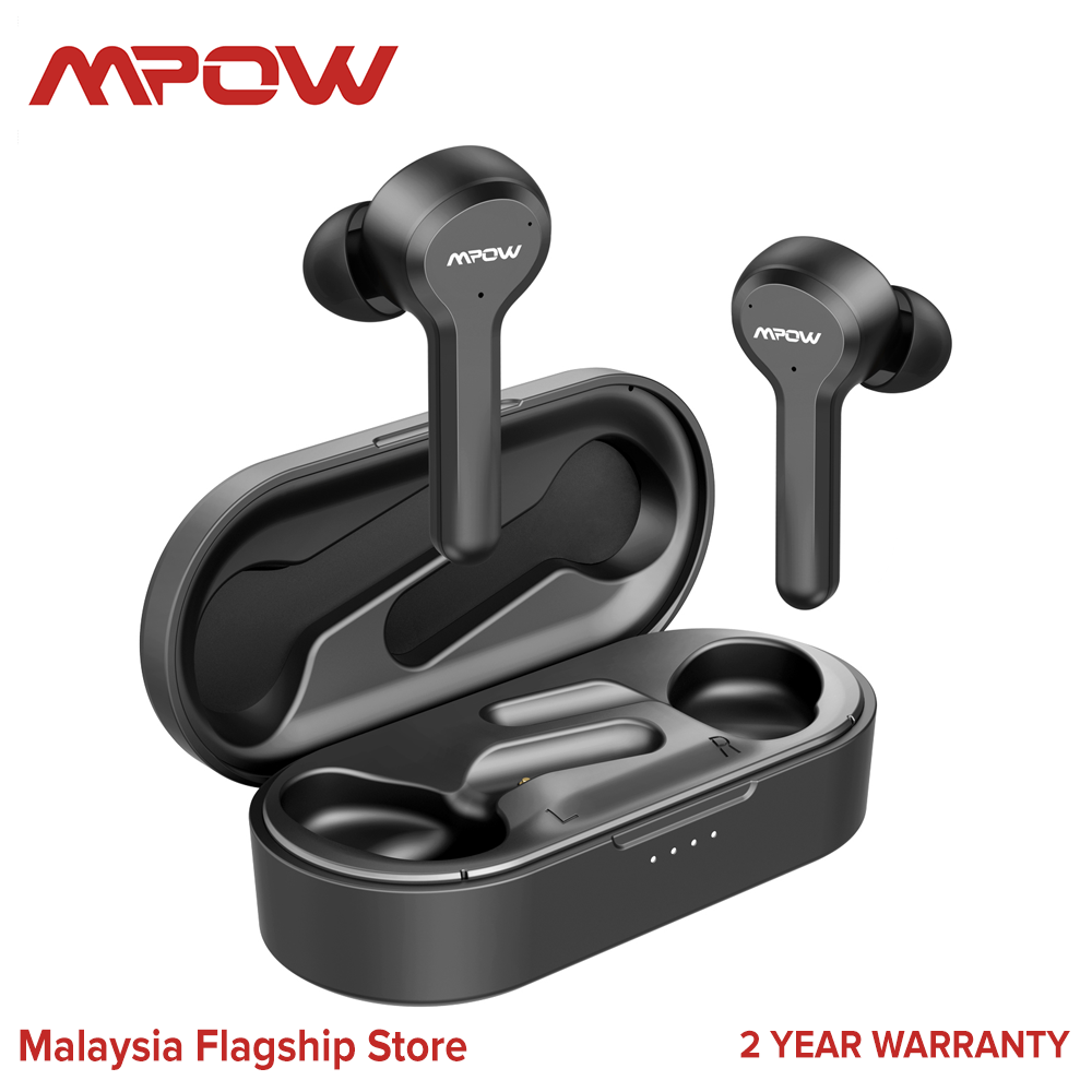 Mpow M9 4-mic Noise Cancelling Wireless Earbuds Bluetooth Earbuds USB-C Headphones Earphones
