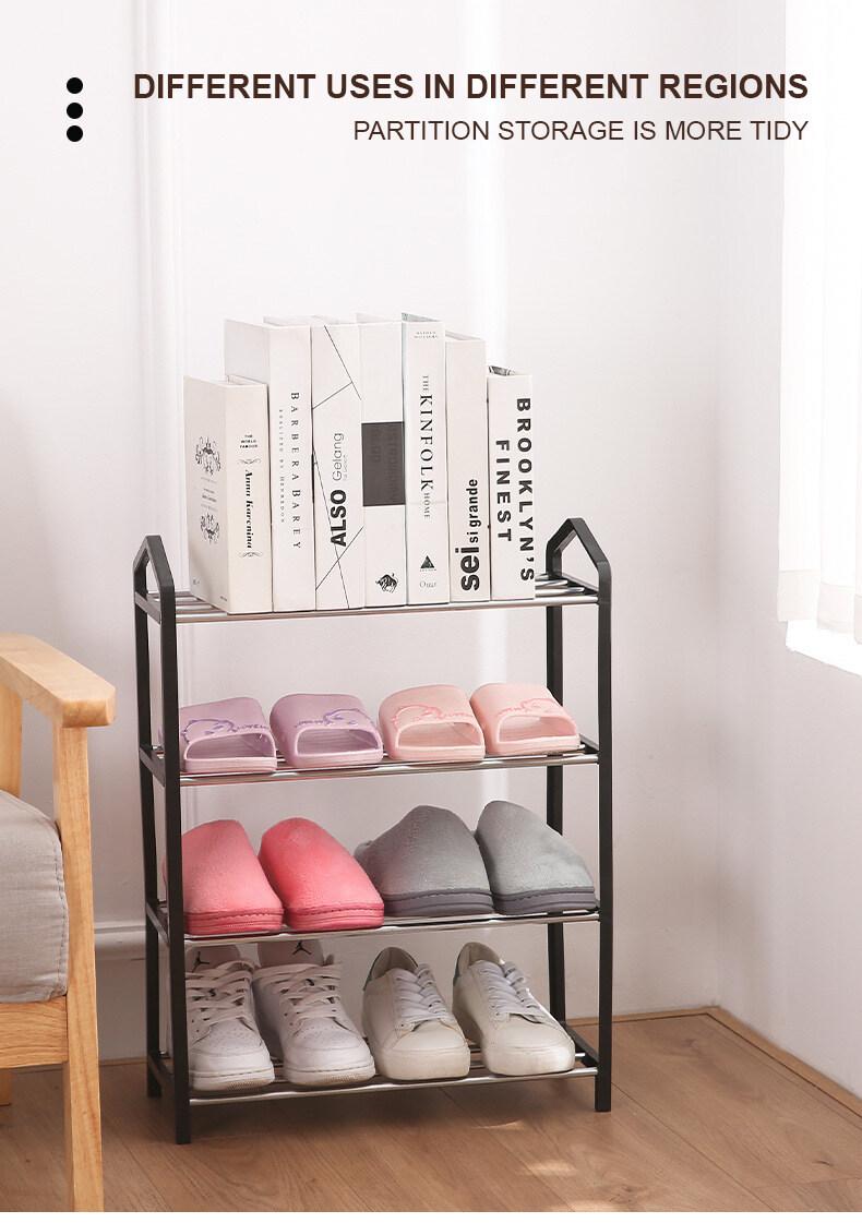 5 Tier Modern Simple Steel Organizer 3 Layer 4 Layer 5 Layer Shoe Rack