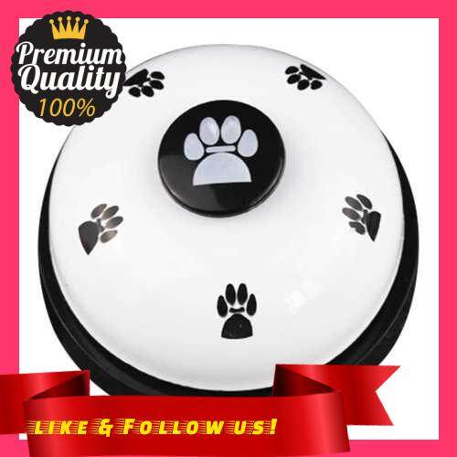 People\'s Choice Pet Training Bell The Dog Claw Prints Pet Reaction Training Bell Pet Intelligence Plaything (White & Black)