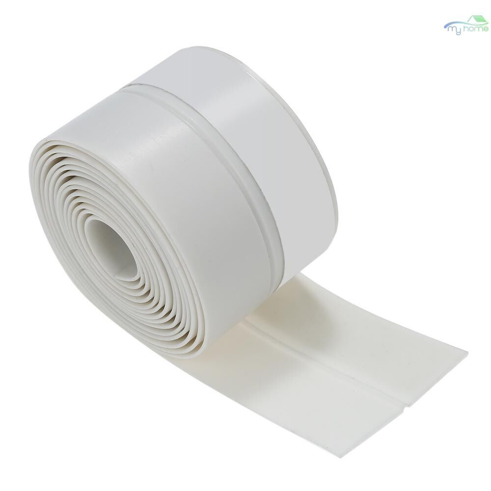 Chains & Locks - 3.3ft 1m Seal Strip Silicone Rubber Sealing Sticker Self-adhesive Seal Strip for Door Window - WHITE-25MM / TRANSPARENT-25MM