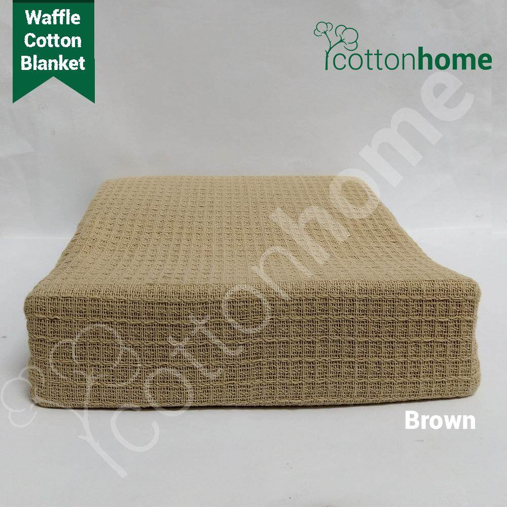 Cotton Blanket: 100% Natural Cotton (60inch vs 80inches) - TWIN size