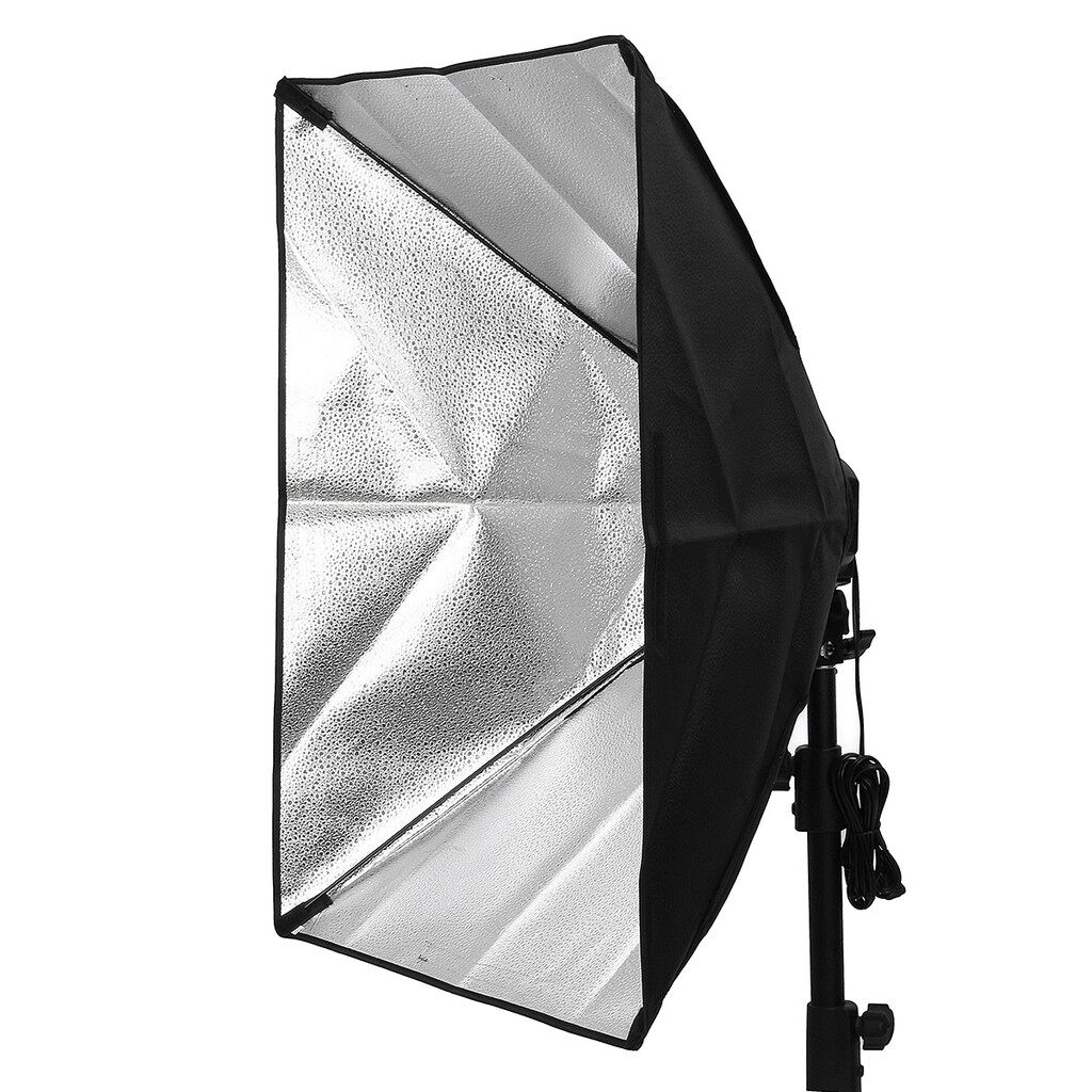 Lighting and Studio Equipment - Photo Studio 800W Lighting 50x70cm Softbox Light + 4-Socket E27 Lamp Holder Kit - Camera Accessories