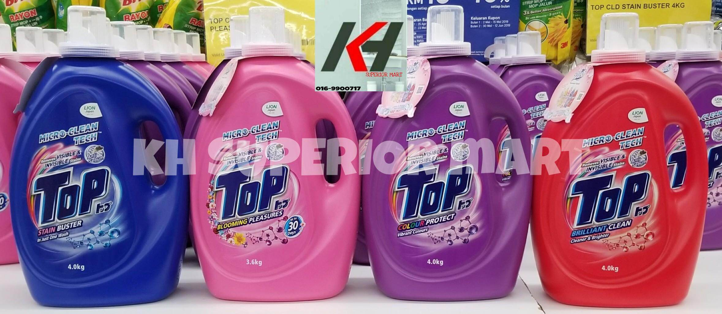TOP STAIN BUSTER LIQUID DETERGENT MICRO CLEAN TECH 4.0KG  READY STOCK