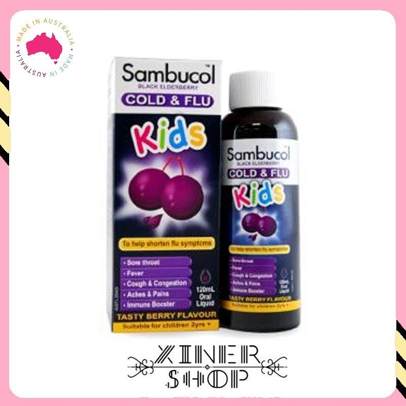 [Pre Order] Sambucol Kids Cold & Flu Liquid ( 120ml )(Made In Australia)