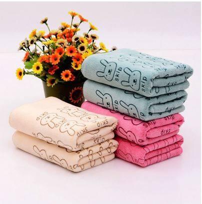 Absorbent Microfiber Towel Bathroom Drying Bunny Beach Towel For Adult Baby