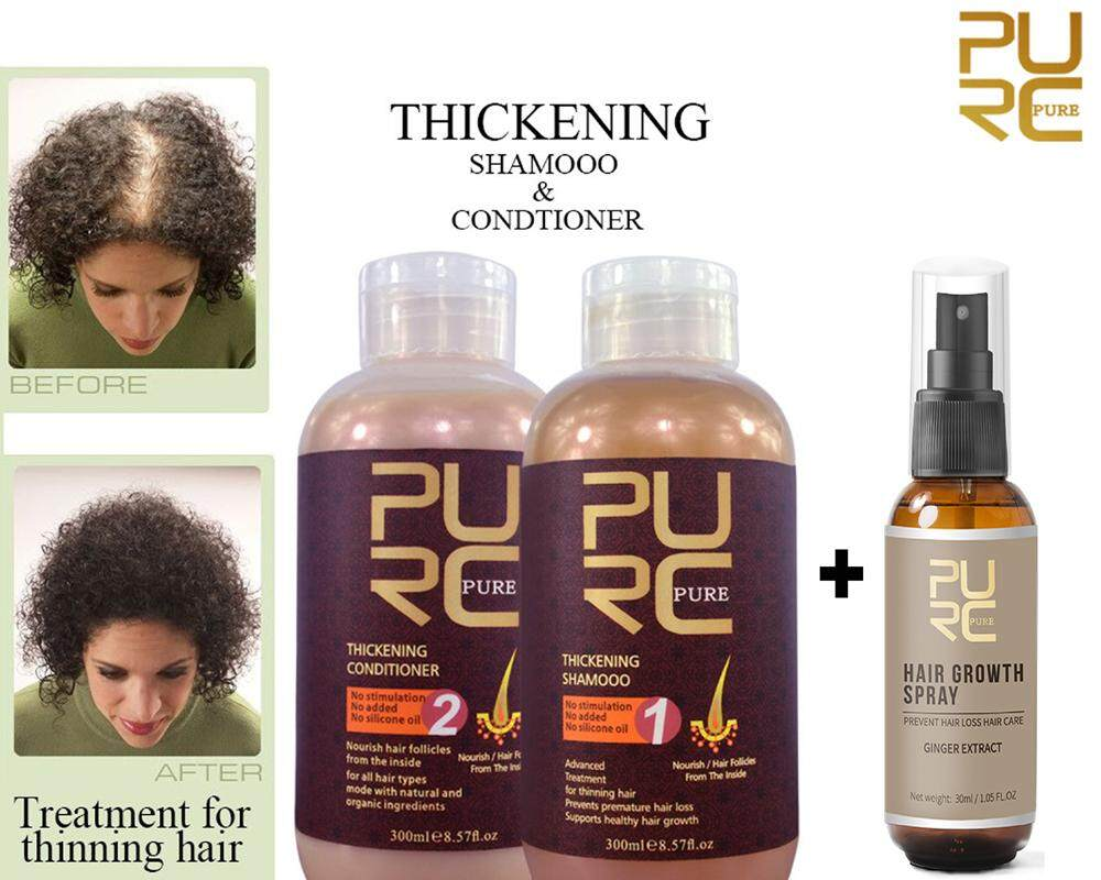 GINGER EXTRACT THICKENING SHAMPOO & CONDITIONER 300ML + HAIR GROWTH SPRAY TONIC