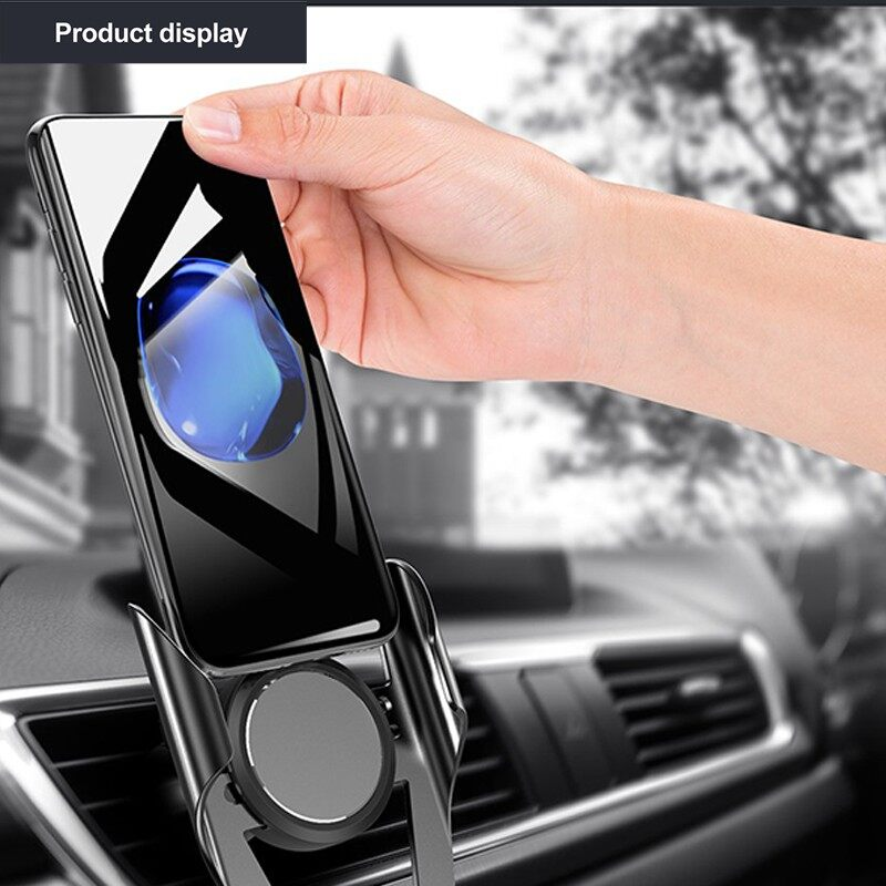 Car Phone Holder 360 Rotation Automotive Air Outlet Card Buckle for iPhone 7 8 XS Max - BLACK-A-PANDA HOLDER / BLACK-B-MULTI HOLDER / GOLD-A-PANDA HOLDER / GOLD-B-MULTI HOLDER / SILVER-A-PANDA / SILVER-B-MULTI