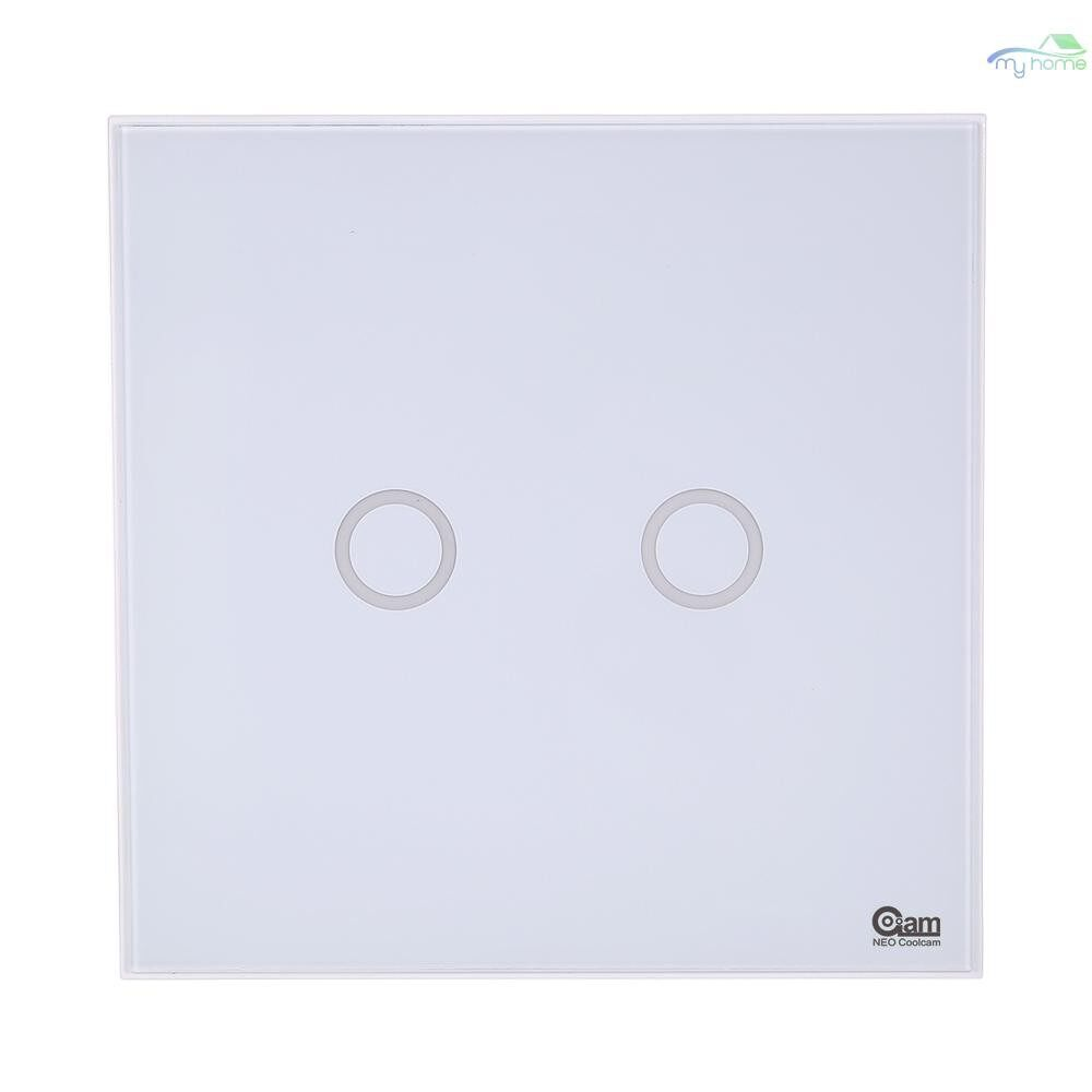 DIY Tools - NEO Coolcam Z-wave Wall Light Switch 2CH Gang Z Wave WIRELESS Smart Remote Control EU Light Switch - Home Improvement