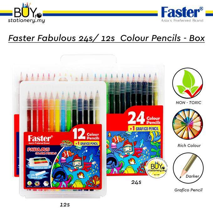 Faster Fabulous Colour Pencils 12L/24L - Box