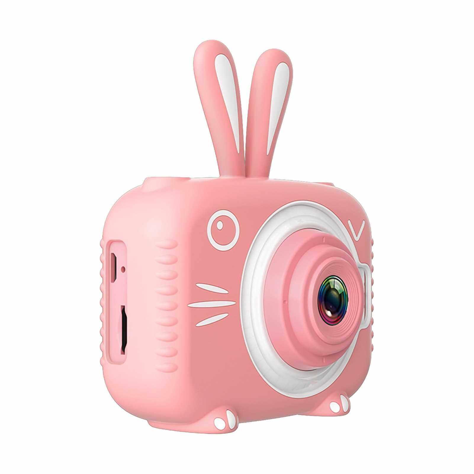 720P Portable Mini Kids Camera 20 Megapixel 2.0 Inch IPS Screen Cute Cartoon Animal Camera for Children Boys Girls (Pink)