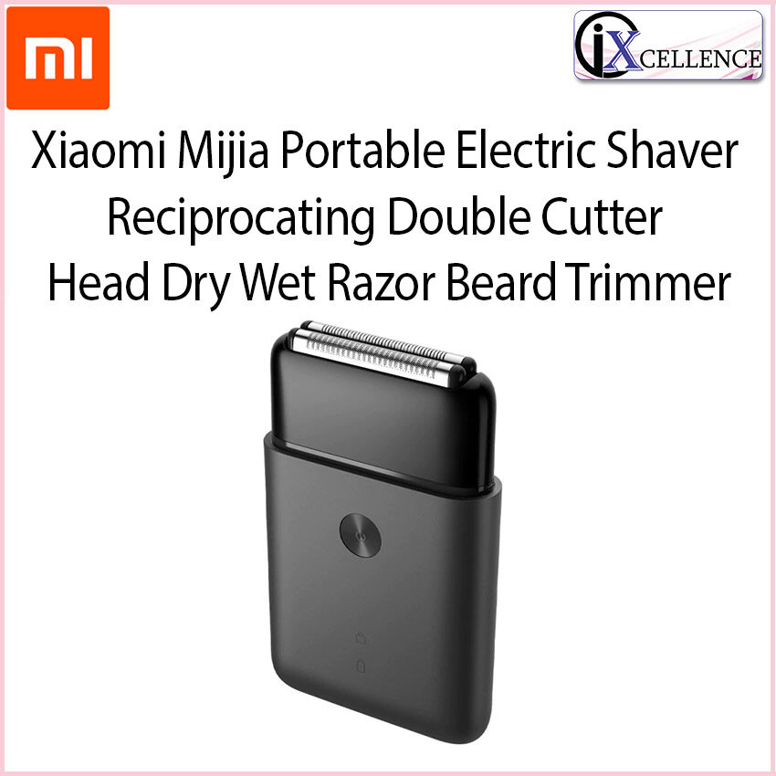 [IX] Xiaomi Mijia Portable Electric Shaver Reciprocating Double Cutter Head Dry Wet Razor Beard Trimmer NUN4070CN (Black)
