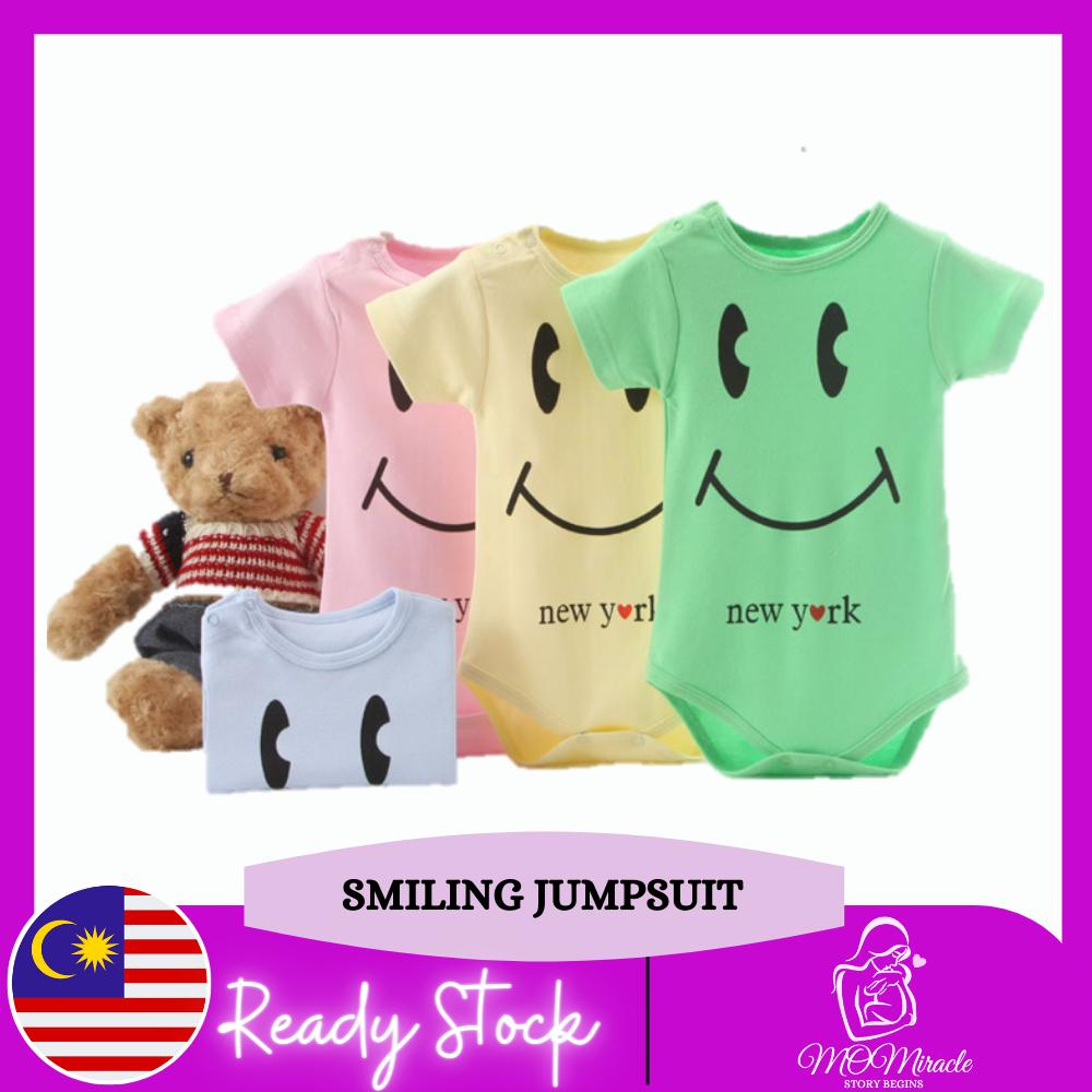 MOMiracle Pure Cotton Short Sleeve Baby Romper Boy / Girl Newborn Jumpsuit 100% Cotton