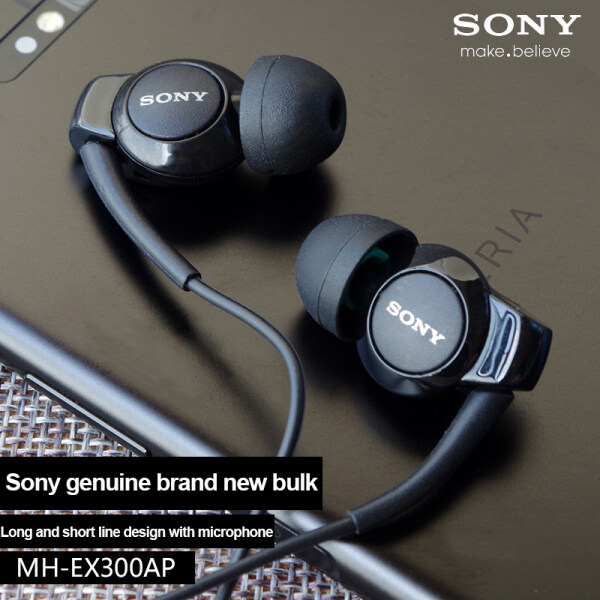 【Shipping in 24 hours】100% original Sony MH-EX300AP In Ear Stereo Earphone Earset Dynamic Sound Strong Bass Call Answering Singapore