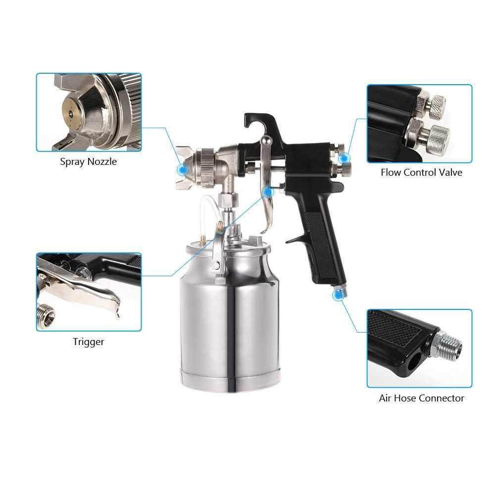 High Pressure Maxium Turbine Siphon Feed Paint Spray Machine with 1.8mm Nozzle 1000cc (Standard)