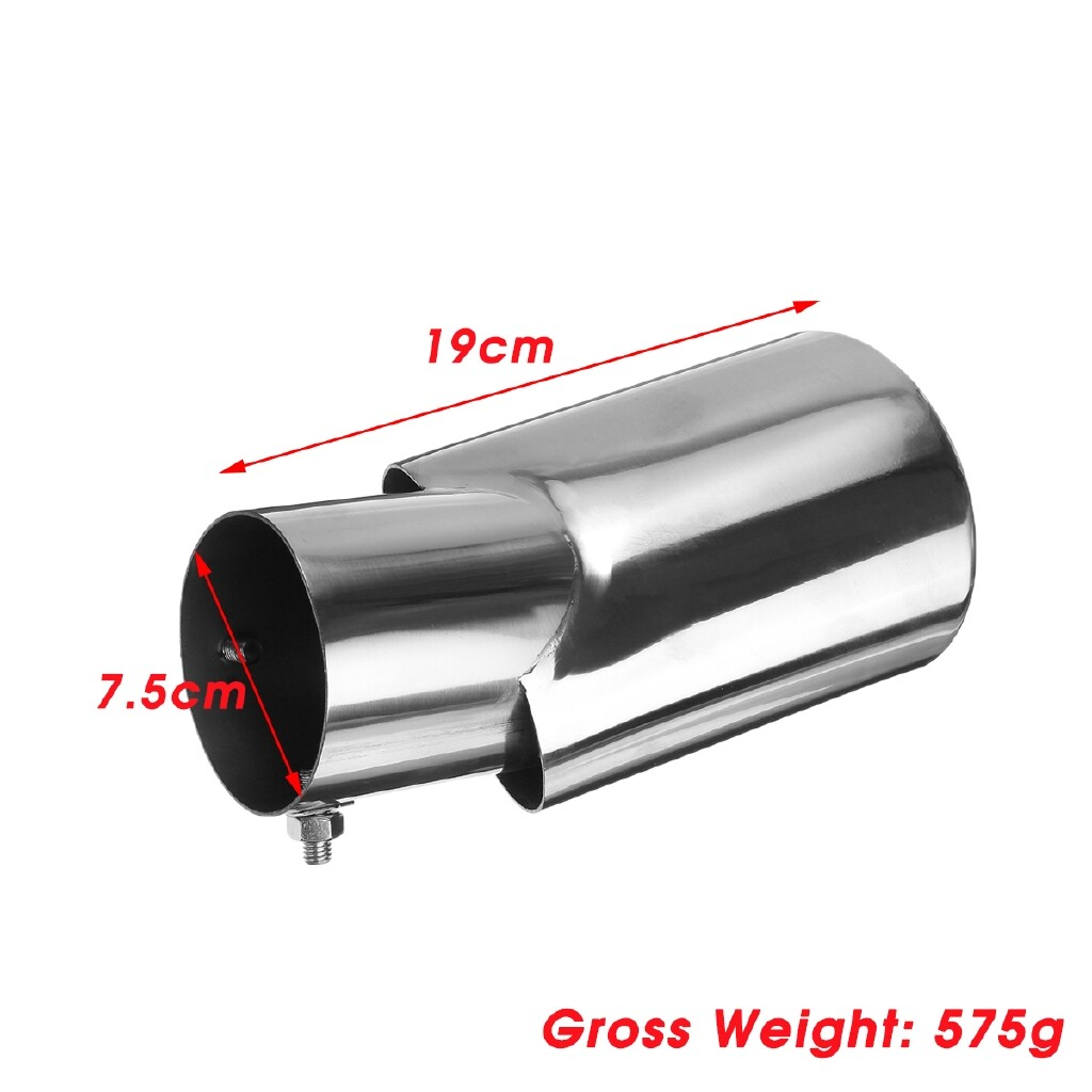 Engine Parts - Car Tail Exhaust Muffler Pipe Tip for Toyota Highlander 2017- Stailess Steel - Car Replacement