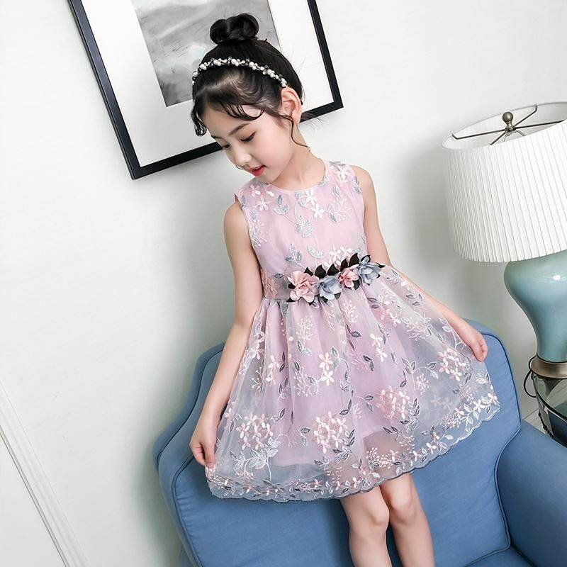 (Pre Order14 Days JYS  Fashion Korean Style Kids Girl Dress Collection ollection 518- 1012col518-1012--Pink -110CM