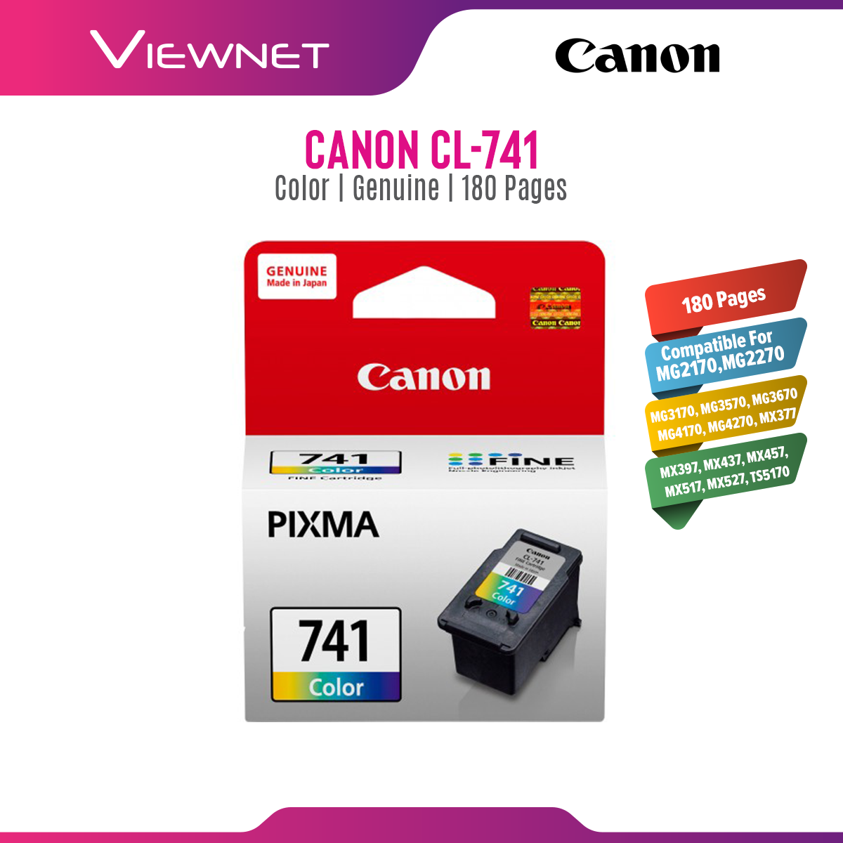 Canon PG-740 / CL-741 Original Ink Cartridge Black / Color
