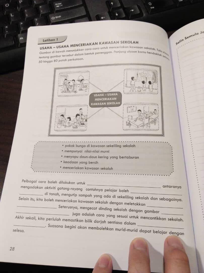 People's Choice Aspirasi A++ Latihan Penulisan UPSR Tahun 6 Bahasa Malaysia Contoh Soalan Jawapan (Ready Stock)
