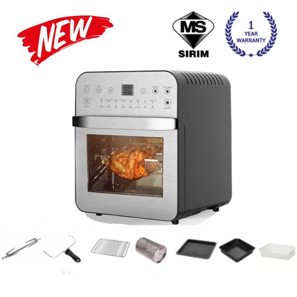 Zenne Air Fryer Multifunction Multi-purpose Digital 16 Preset Menus and 360° Rotisserie Oven