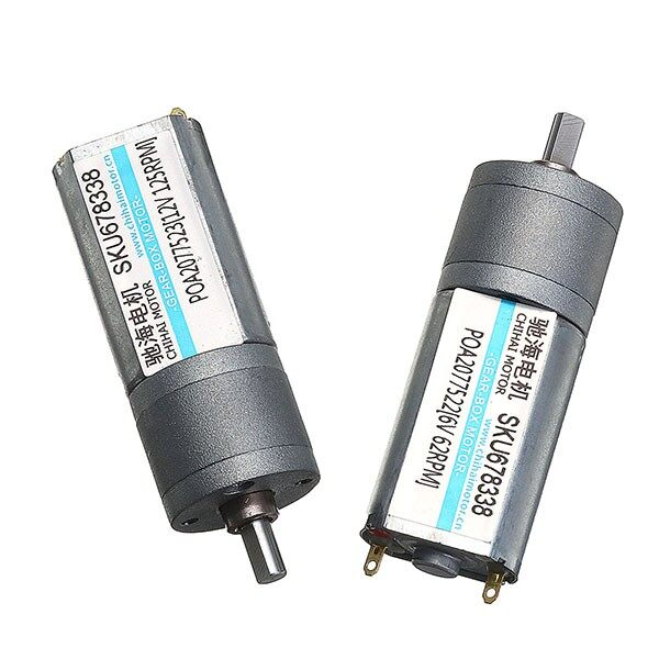 Gadgets - CHR-GM20-180-78 12V 125RPM/6V 62RPM motor - 6V 62RPM / 12V 125RPM