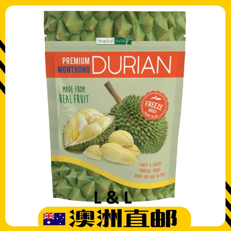 [Pre Order] Australia Costco Tropical Fields Snack Freeze Dry Durian ( 100g ) (Import from Australia)