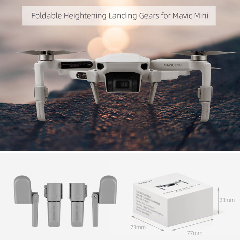 RC Drone Landing Gear Foldable Feet Heightened Stand for DJI Mavic Mini Airplane Shock-absorbing Stabilizer Take-off Protector