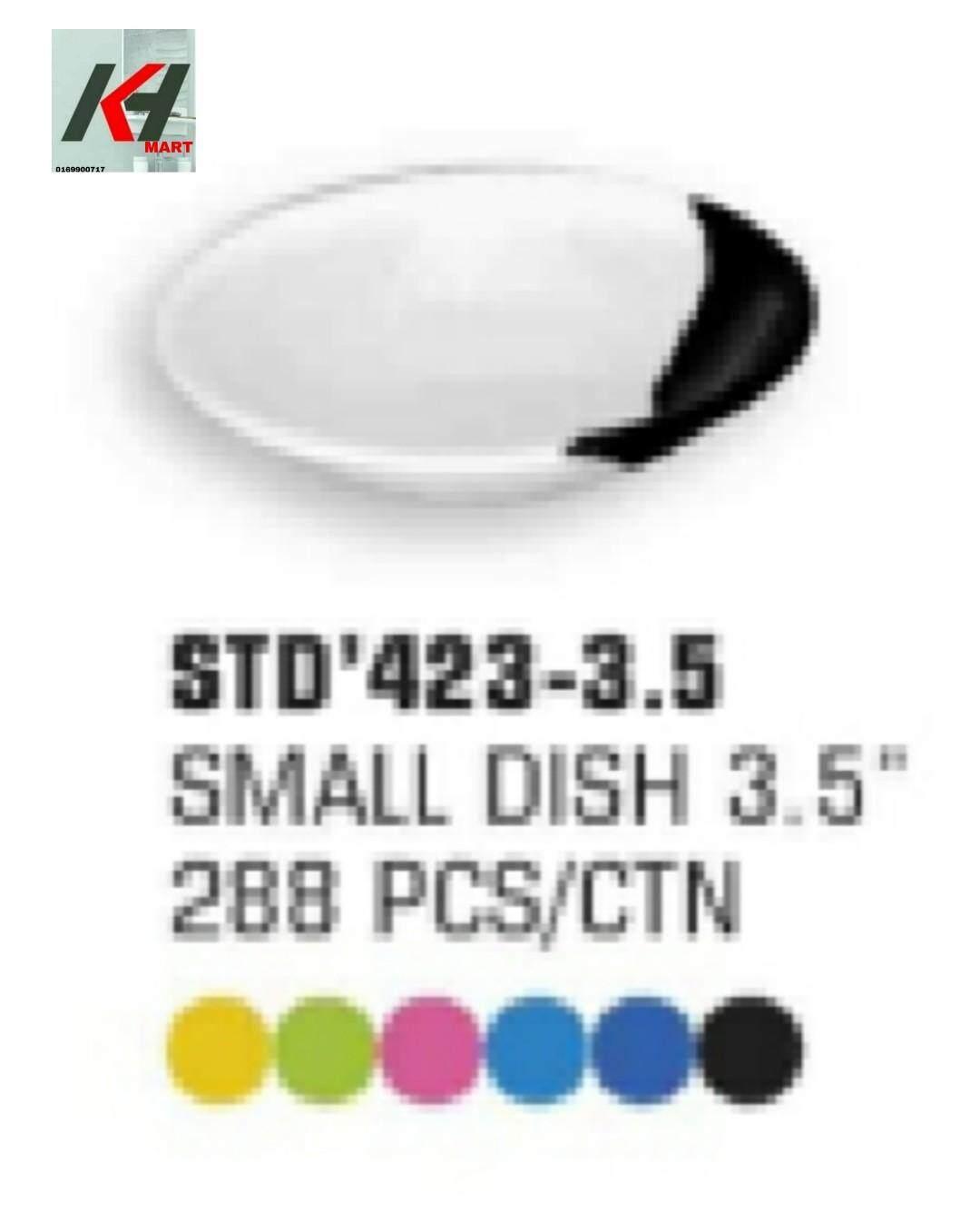 MELAMINE / MILAMINE TWO TONE SMALL  DISH 3.5   1 PCS READY STOCK