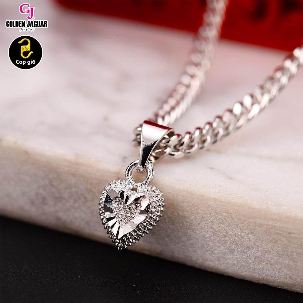 GJ Jewellery Emas Korea Necklace - Linked Love Tag (40703)