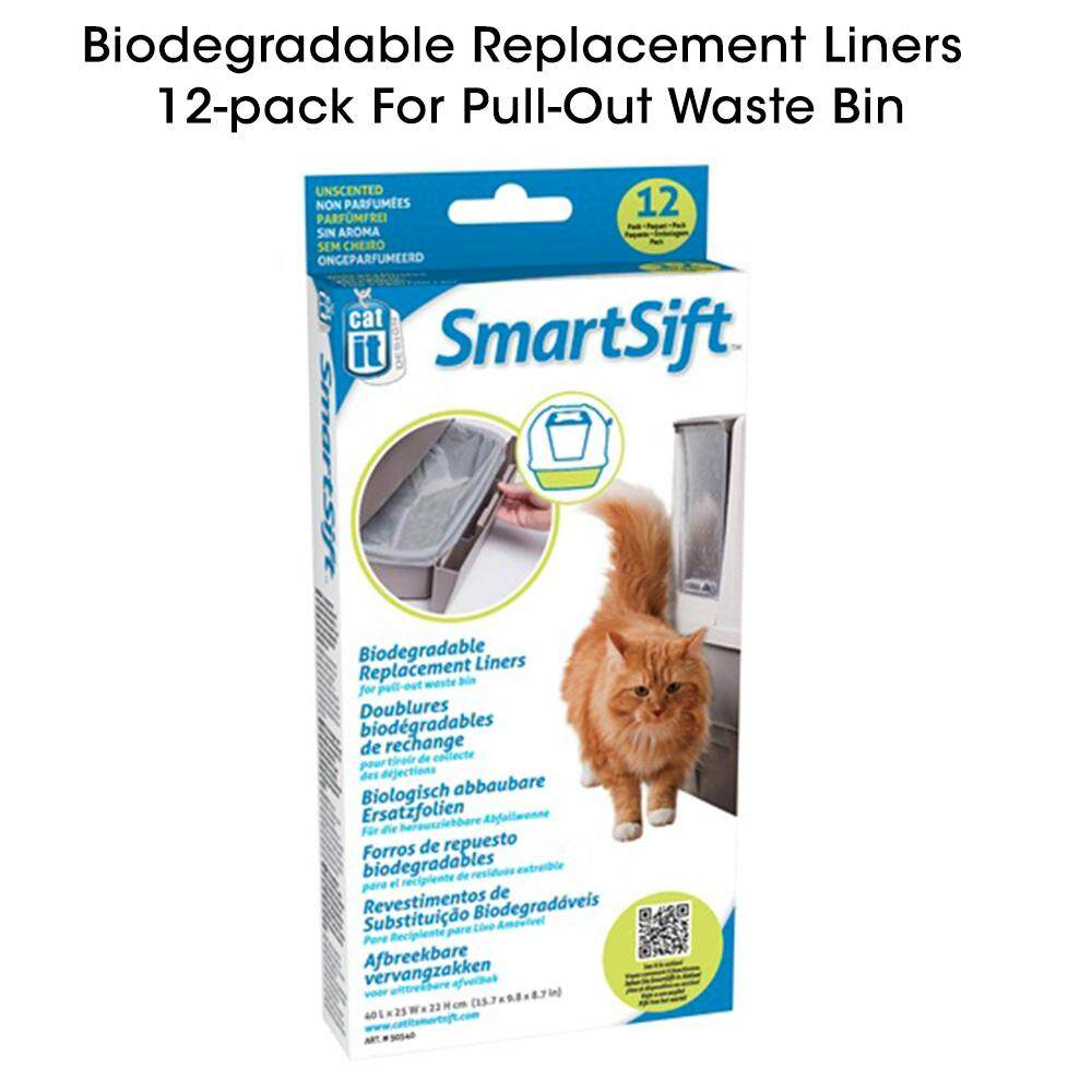 Catit SmartSift Cat Toilet Biodegradable Replacement Liners - Pan Base & WasteBin