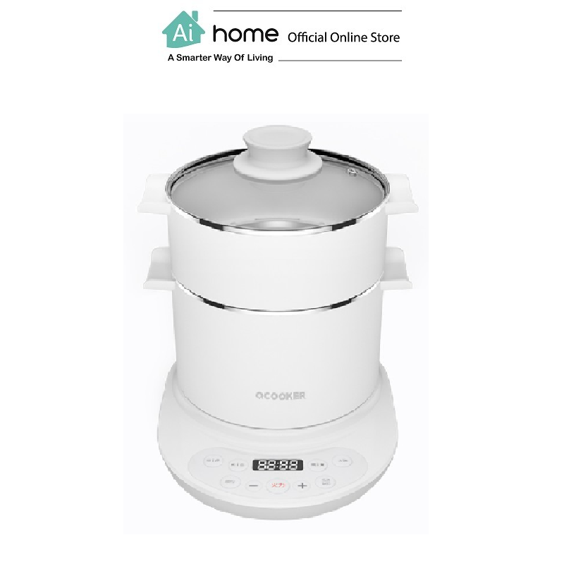 OCOOKER Multi function Electric Cooker Hot Pot (White) with 1 Year Malaysia Warranty [ Ai Home ]