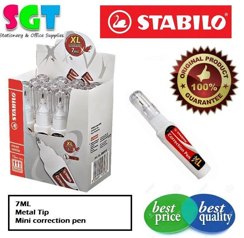 Stabilo Correction Pen - Metal Tip 7ML 12`s/Box (888PS12)