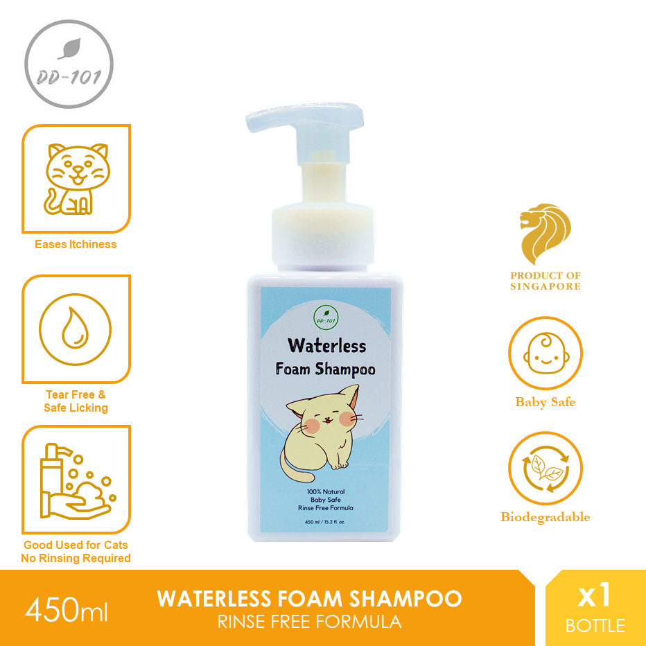 DD101  Waterless Pet Foam Shampoo 450ml [Cat Dog Syampu Kucing Anjing]