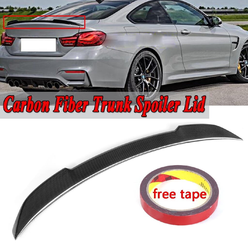 Automotive Tools & Equipment - Real Carbon Fiber Rear Trunk Spoiler Wing Lid M4 CS STYLE For 2015- BMW F82 - Car Replacement Parts