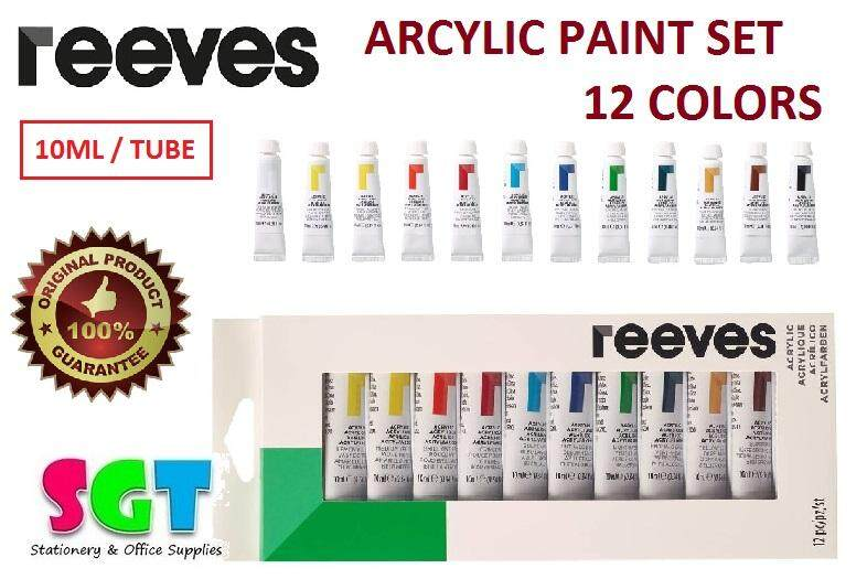 REEVES Acrylic Paint set 10ml ( 12 colors )