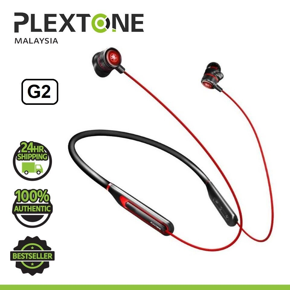PLEXTONE G2 Gaming Wireless Neckband Earphone LED Bluetooth 5.0 Wireless Earbuds Headset Low Latency HD 7.1 Surround Sound Mobile Gaming PUBG Music Play for Wireless Gaming Earphone HUAWEI SAMSUNG VIVO OPPO REALME XIAOMI