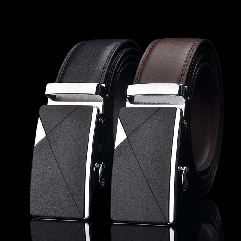 100% Cowhide Leather Belt [M'sia Warehouse Direct] 2020 Korean Series Men's Automatic Buckle Belt Perfect Gift For Love One (can request box) Laser Zinc Alloy Luxury English Style Suitable For Formal Wear Belt Long Lasting Tali Pinggang Lelaki Kulit Lembu