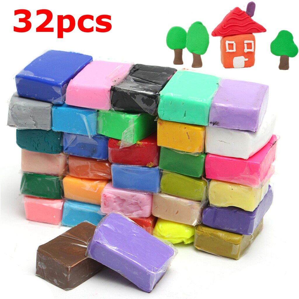 Car Lights - 32 Colors Malleable Polymer Clay Fimo Block Modelling Moulding Sculpey DIY Toys - Replacement Parts