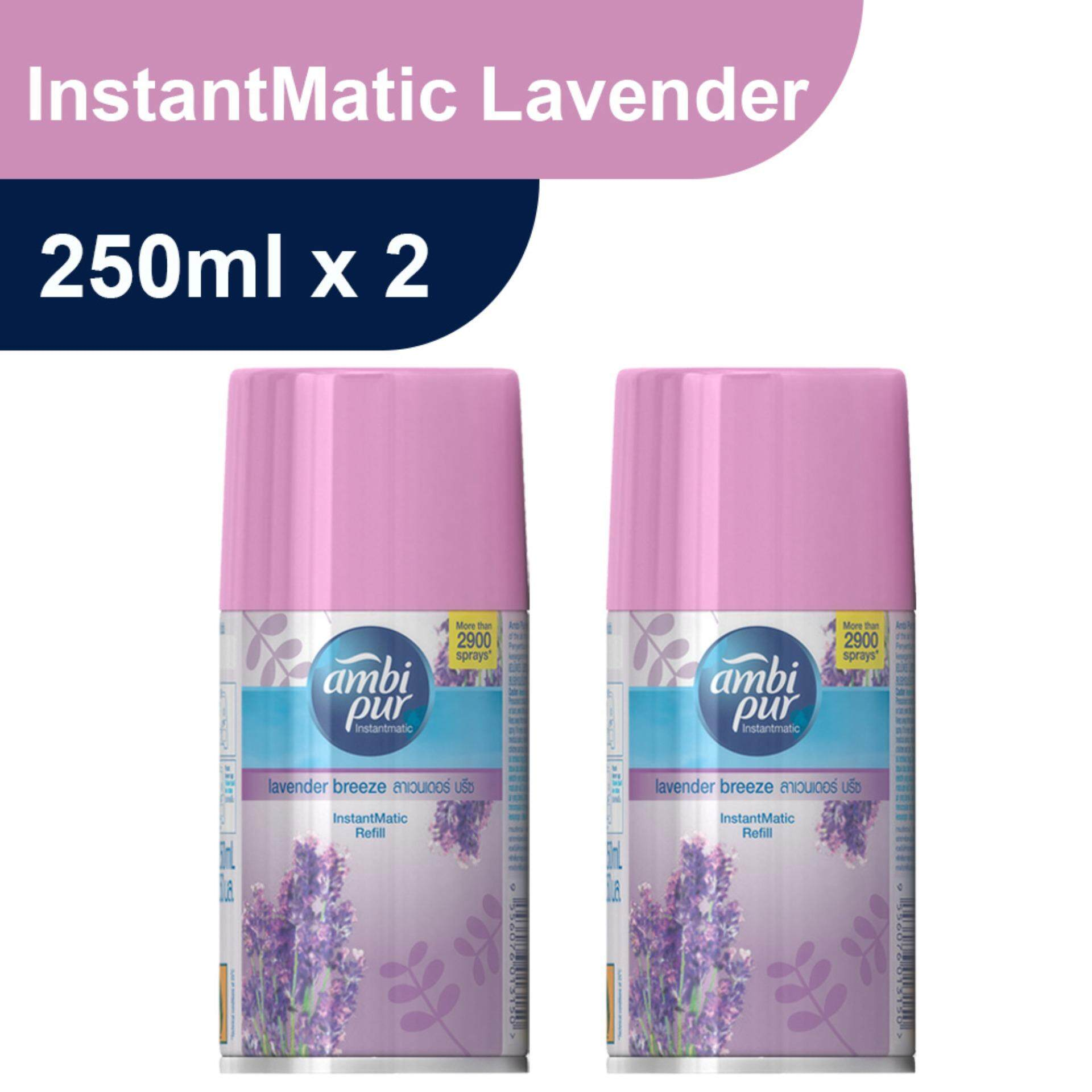 Ambi Pur InstantMatic Lavender Breeze Automatic Spray Refill 250ml Twin Pack